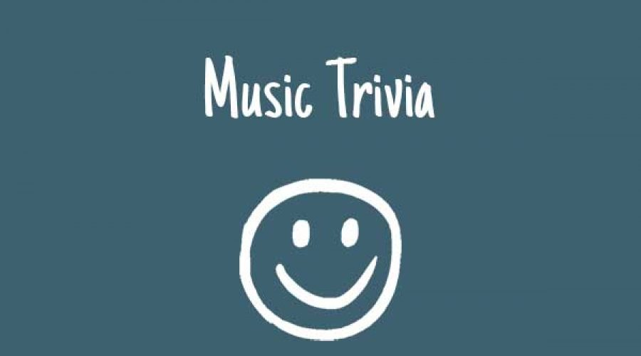 Random trivia facts about the world of music