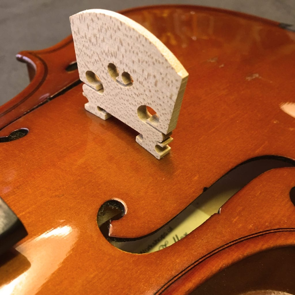 Blank Violin Bridge Before Fitting