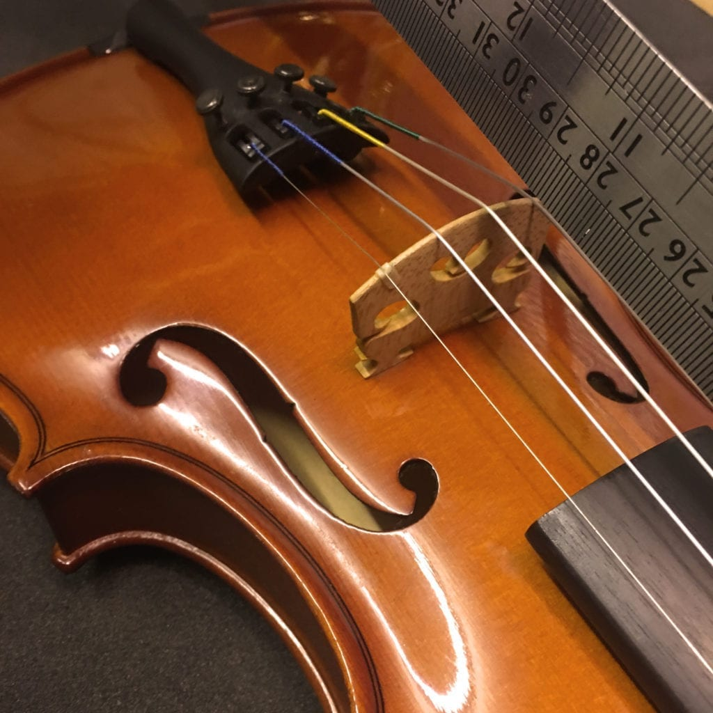 Measuring Violin Bridge Distance