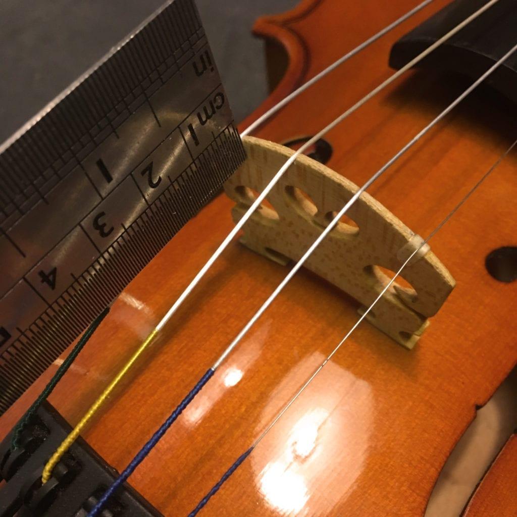 Measuring Violin Bridge Distance