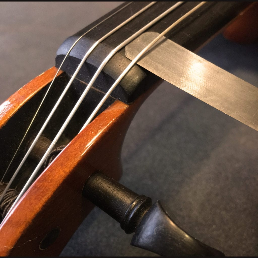 Checking Violin String Height