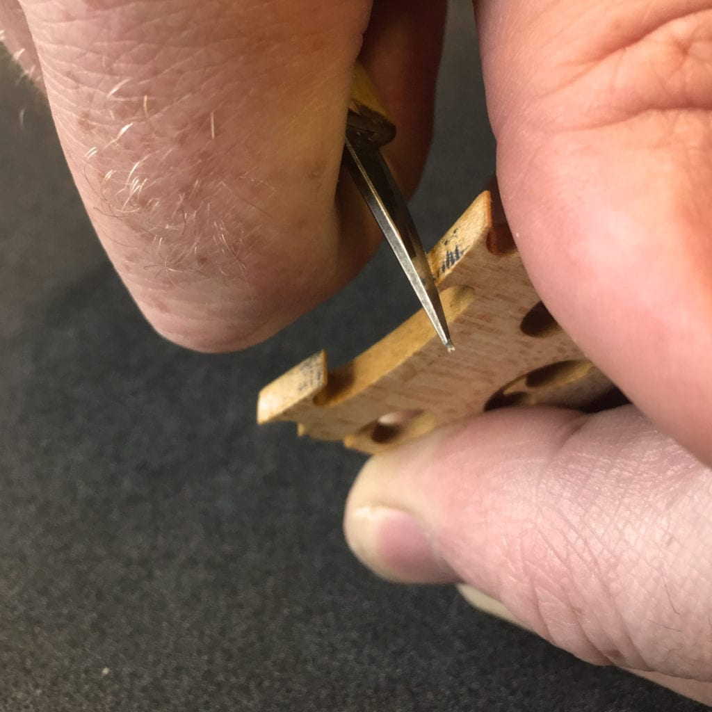 Fitting the Violin Bridge - The Detail