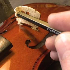 Checking Violin Bridge Height for String Height
