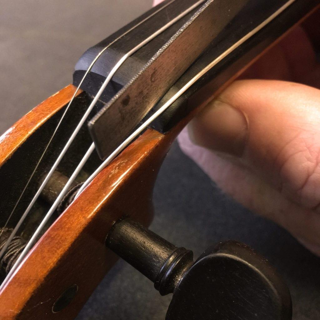 Cutting Violin Nut