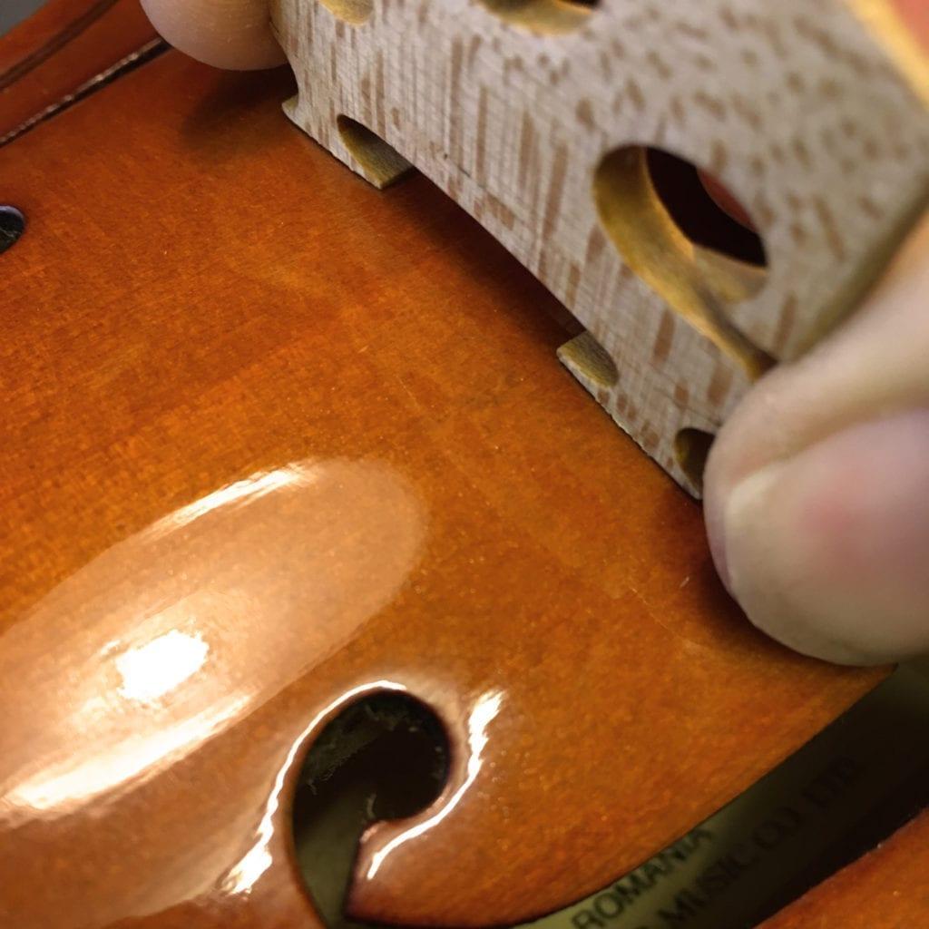 Violin Bridge Feet Fitted