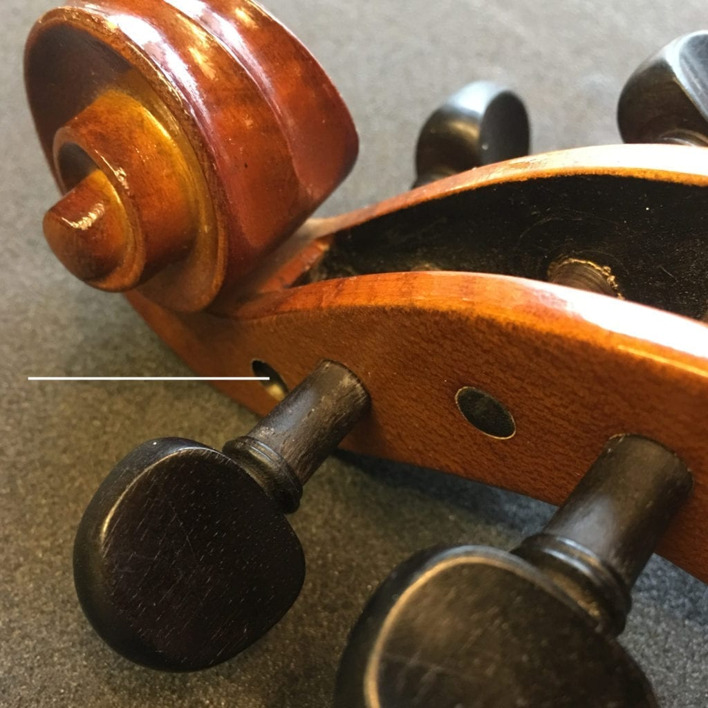Violin Peg Not Fitting Through Peg Box