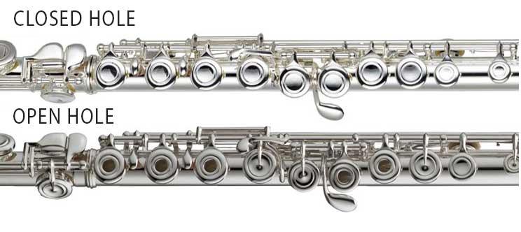 Closed Hole Flute v's Open Hole Flute