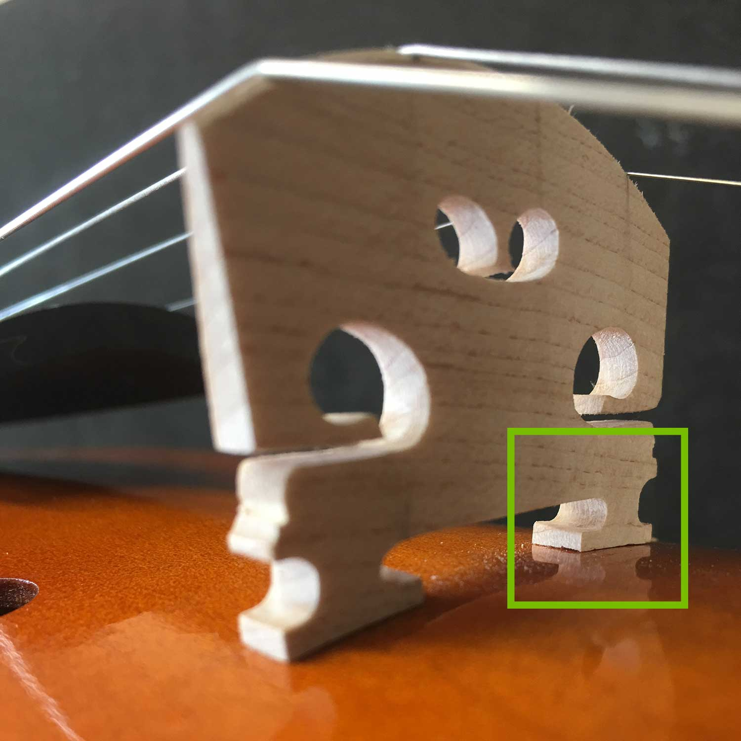 Cheap Violin - Bridge Feet Fitting
