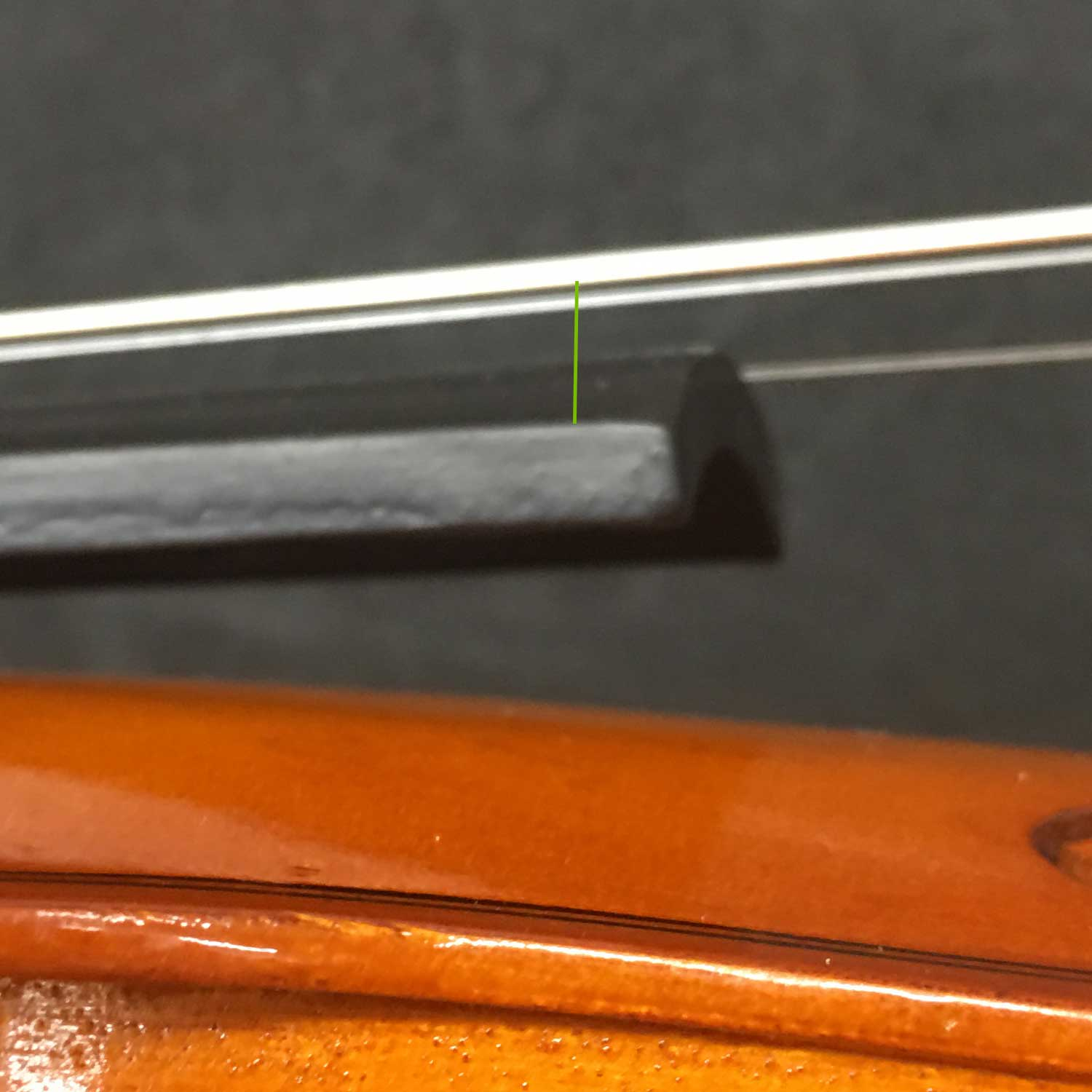 Cheap Violin - String Height